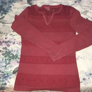 S Lucky Brand Red Thermal